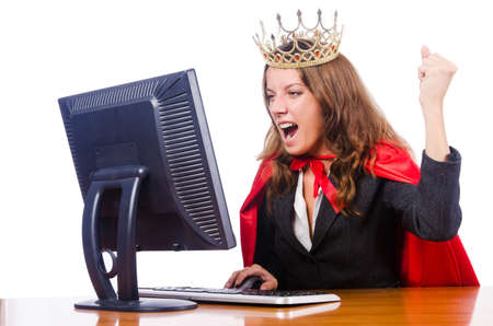 Office queen isolated on the white Stock Photo - 15926474