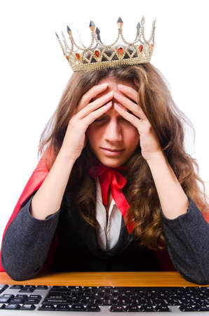 Office queen isolated on the white Stock Photo - 15926670