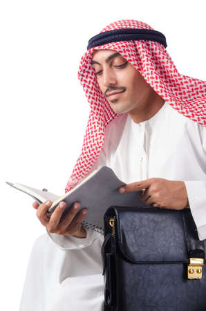Diversity concept with arab on white Stock Photo - 16064552