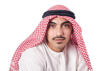 Diversity concept with arab on white Stock Photo - 16064545