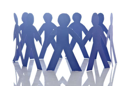 Teamwork concept with paper cut people Stock Photo - 15929442