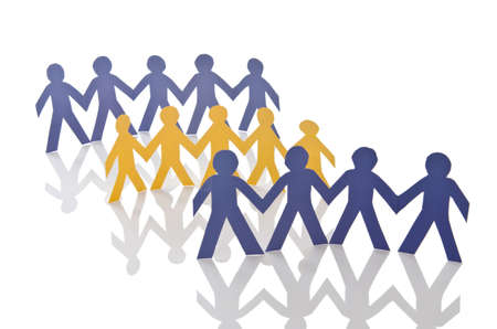 Teamwork concept with paper cut people Stock Photo - 15930673