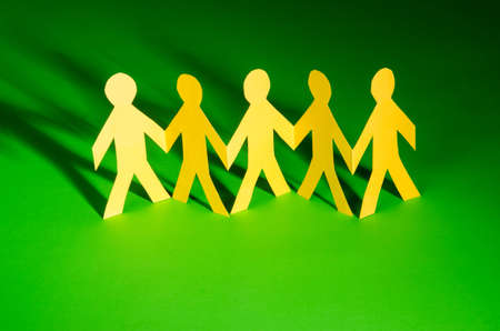 Paper people in teamworking concept Stock Photo - 15929188