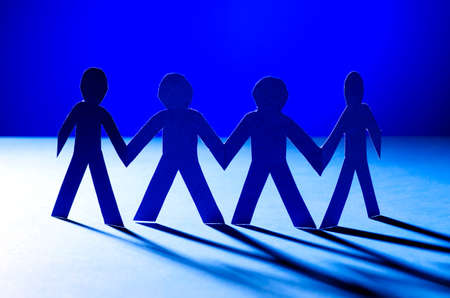 Paper people in teamworking concept Stock Photo - 15929359