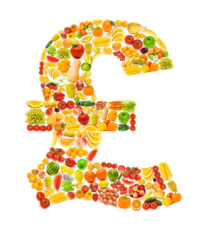 Silhoette made from various fruits and vegetables Stock Photo - 15929325