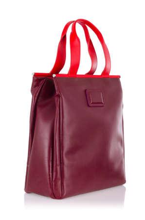 Elegant woman bag isolated on white Stock Photo - 15997990