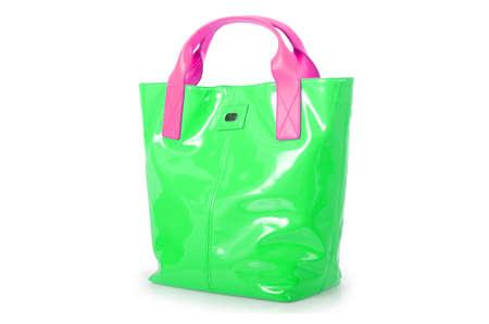 Elegant woman bag isolated on white Stock Photo - 15968897