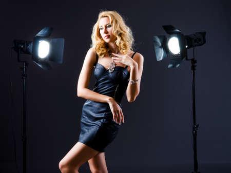 Attractive woman in studio shooting Stock Photo - 16077682