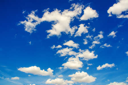 Bright blue sky in summer day Stock Photo - 16100446