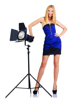 Attrative woman in photo studio Stock Photo - 16064519