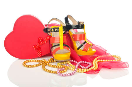 women s fashion: Shoes and other woman accessories Stock Photo
