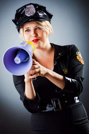 Attractive police office in dark room Stock Photo - 16934050