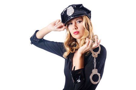 Woman police in the concept Stock Photo - 16064374