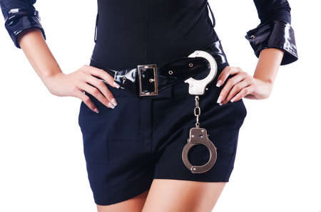 Young attractive woman police Stock Photo - 16054603