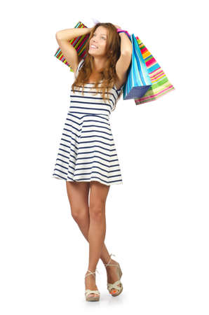 Happy girl after great shopping Stock Photo - 16064458