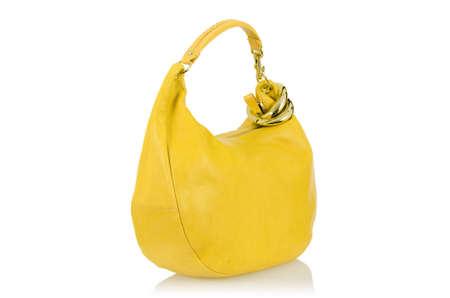 Elegant woman bag isolated on white Stock Photo - 15963726