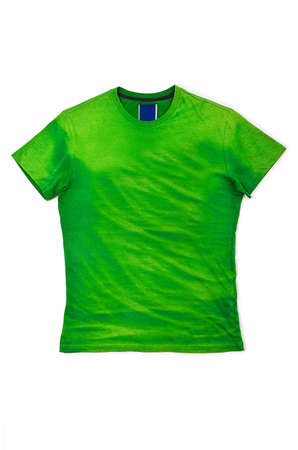 Male shirt isolated on white Stock Photo - 16098429