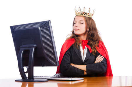 Office queen isolated on the white Stock Photo - 16064311