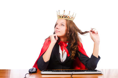 Office queen isolated on the white Stock Photo - 16064318