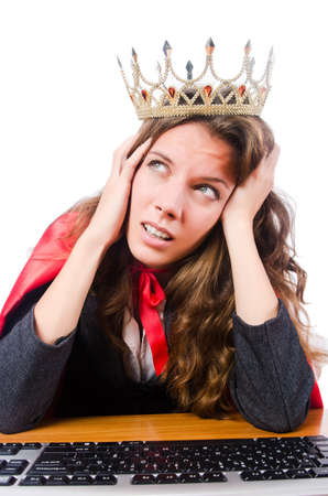 Office queen isolated on the white Stock Photo - 16099629