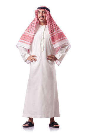 arab people: Arab man isolated on the white