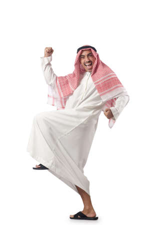 Arab man isolated on the white Stock Photo - 16064451