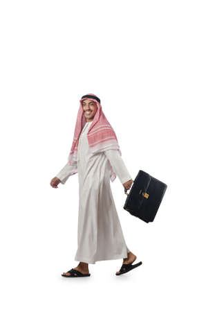 Diversity concept with arab on white Stock Photo - 16064538