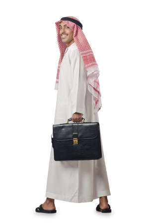 Diversity concept with arab on white Stock Photo - 16064432