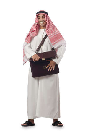Diversity concept with arab on white Stock Photo - 16934043