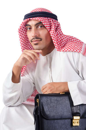 Diversity concept with arab on white Stock Photo - 16098490