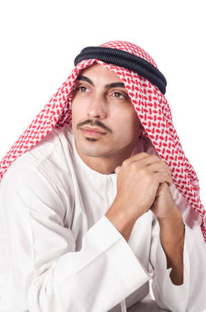 Diversity concept with arab on white Stock Photo - 16069216
