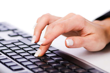 Hands working on the keyboard Stock Photo - 16022258