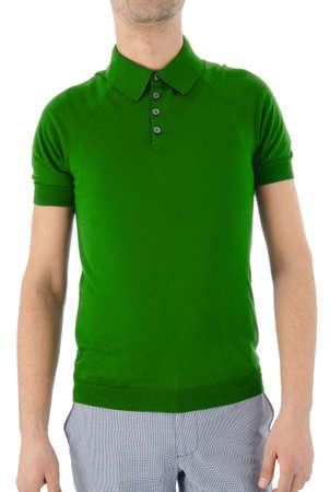 Male shirt isolated on white Stock Photo - 16100519