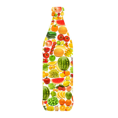 Silhoette made from various fruits and vegetables Stock Photo - 15973435