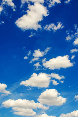 stratus: Bright blue sky in summer day