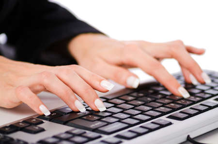 Hands working on the keyboard Stock Photo - 16123829