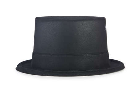 Cylinder hat isolated on the white photo