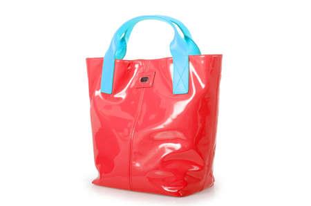 Elegant woman bag isolated on white Stock Photo - 16161923