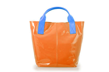 Elegant woman bag isolated on white Stock Photo - 16161857