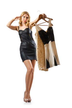 Young attractive woman trying new dresses Stock Photo - 16178388