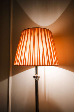 Lamp in the dark interior photo