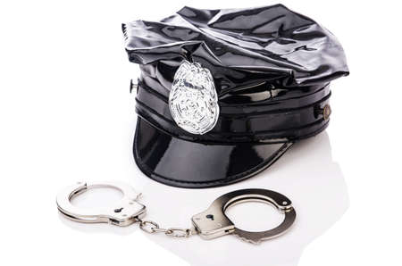 Police accessories isolated on white Stock Photo - 16125279