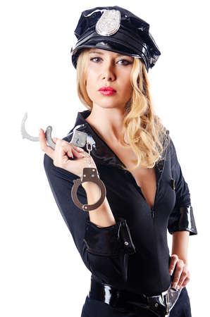 Woman police in the concept Stock Photo - 16178534