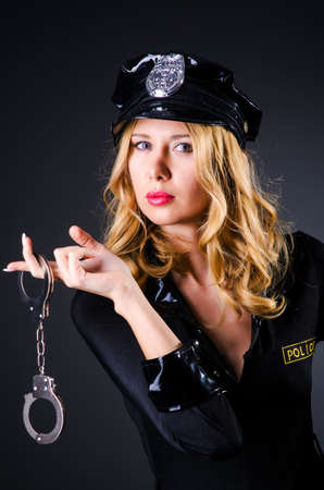 Young attractive woman police Stock Photo - 16178583