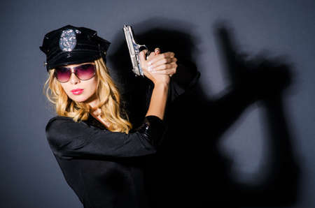 Young attractive woman police Stock Photo - 16178569