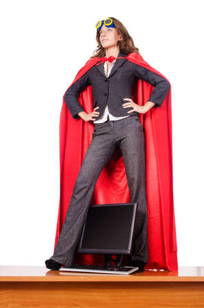 Businesswoman in superwoman concept Stock Photo - 16178548