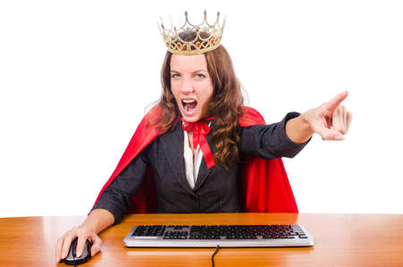 Office queen isolated on the white Stock Photo - 16178483