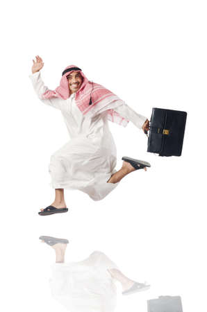 Arab man isolated on the white Stock Photo - 16177965