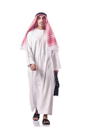 thoub: Diversity concept with arab on white