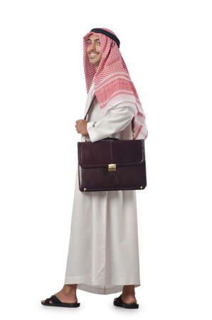 Diversity concept with arab on white Stock Photo - 16178097